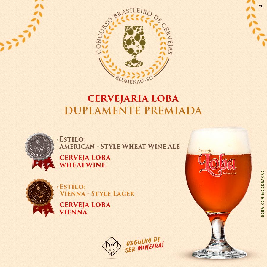 Cervejaria Loba é duplamente premiada no Concurso Brasileiro de Cervejas
